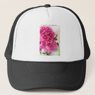 Peony Flowers Close-up Sketch Trucker Hat