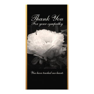 Peony Funeral Sympathy Thank You Card