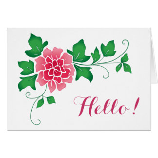 Peony Hello Card