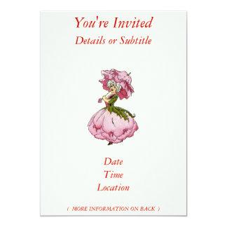 "Peony 5"" X 7"" Invitation Card"