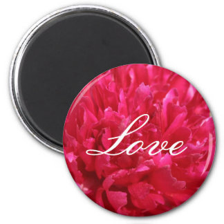 Peony Love 2 Inch Round Magnet