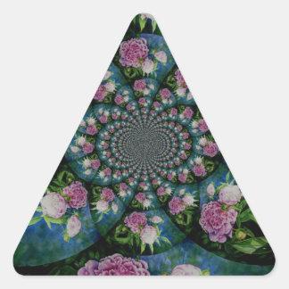 Peony Mandala Triangle Sticker