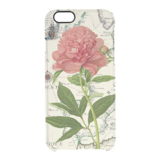 Peony Map Clear iPhone 6/6S Case