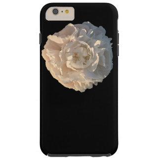 Peony on black background tough iPhone 6 plus case