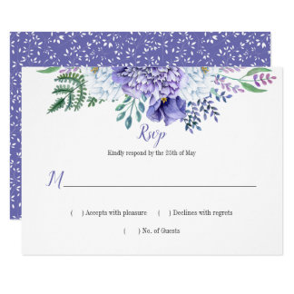 Peony Passion Floral Background Horizontal RSVP Card