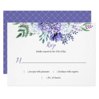 Peony Passion Lattice Background Horizontal RSVP Card