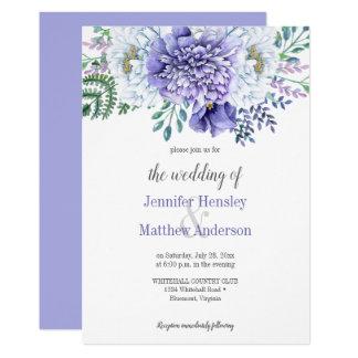 Peony Passion Lavender Background Wedding Invite