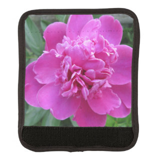 Peony Pink Bloom Luggage Handle Wrap