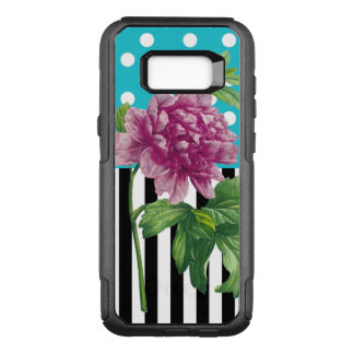 Peony Polka Dot Blue OtterBox Commuter Samsung Galaxy S8+ Case