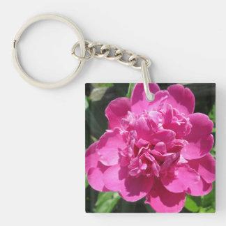 Peony Pretty Pink Keychain