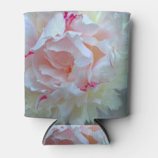 Peony Pretty White Can Cooler
