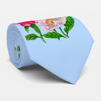 peony print tie