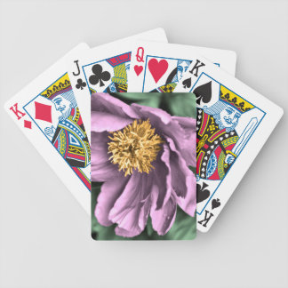 Peony Rain in Color Bicycle Playing Cards