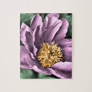 Peony Rain in Color Jigsaw Puzzle