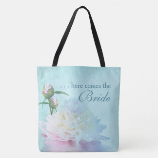 PEONY REFLECTION - PEONY HERE COMES THE BRIDE TOTE