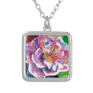 Peony Silver Plated Necklace