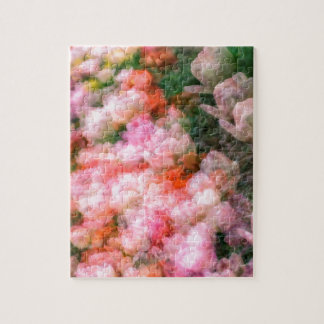Peony Tulips in Full Bloom Jigsaw Puzzle