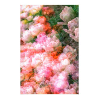 Peony Tulips in Full Bloom Stationery Paper