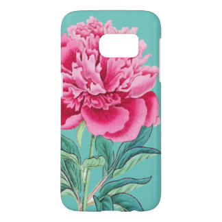 Peony Turquoise Samsung Galaxy S7 Case