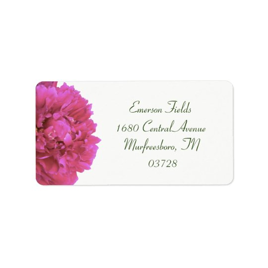 Peony Wedding Address Labels