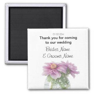 Peony Wedding Souvenirs Keepsakes Giveaways Square Magnet