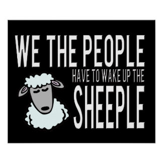 People and Sheeple - Political Humour Poster