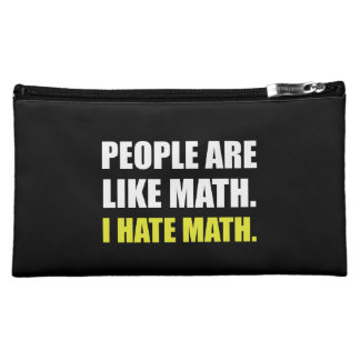 People Are Like Hate Math Cosmetic Bag