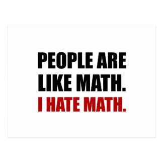 People Are Like Hate Math Postcard