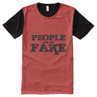 People Are So Fake Panel Tee