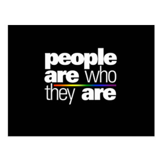 PEOPLE ARE WHO THEY ARE POSTCARD