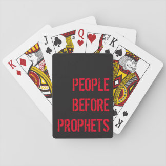PEOPLE before PROPHETS for Hearts Playing Cards