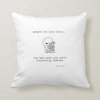 People & Books Cushion