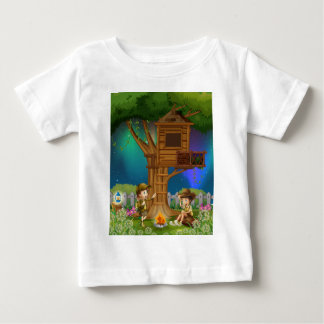 People camping out in the park baby T-Shirt