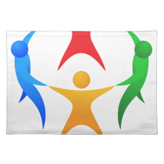 People Circle Team Concept Placemat