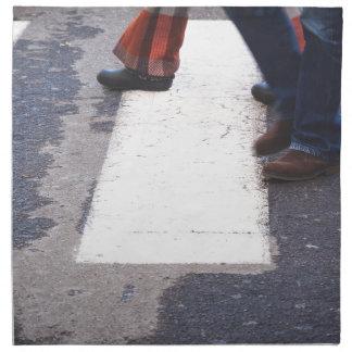 people crossing napkin