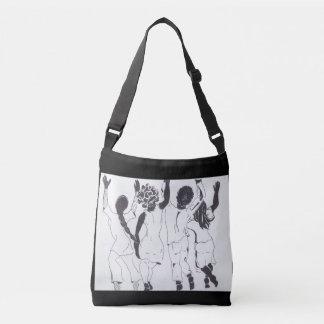 people dancing crossbody bag