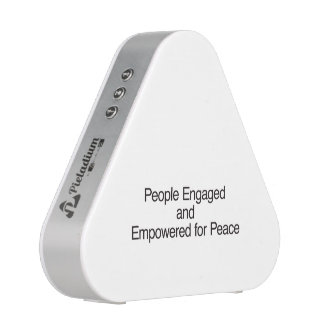 People Engaged and Empowered for Peace ai Bluetooth Speaker