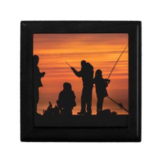 People Fishing at Breakwater Gift Box