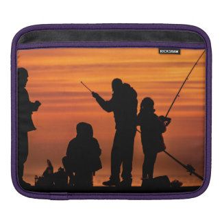 People Fishing at Breakwater iPad Sleeve