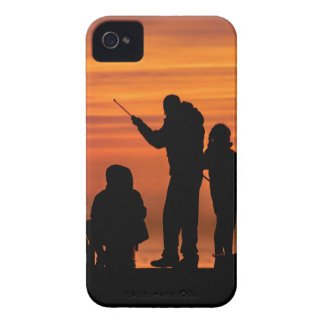 People Fishing at Breakwater iPhone 4 Case