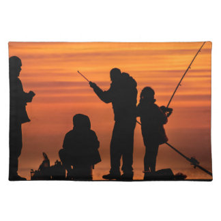 People Fishing at Breakwater Placemat