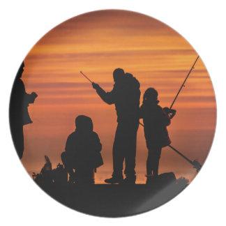 People Fishing at Breakwater Plate
