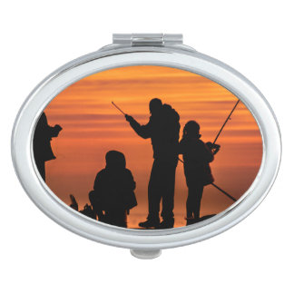 People Fishing at Breakwater Vanity Mirror