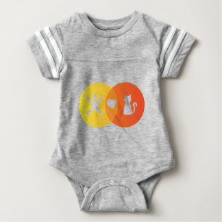 People Heart Cats Venn diagram Baby Bodysuit