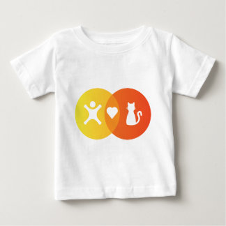 People Heart Cats Venn diagram Baby T-Shirt