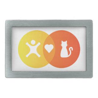 People Heart Cats Venn diagram Belt Buckles