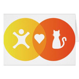 People Heart Cats Venn diagram Card