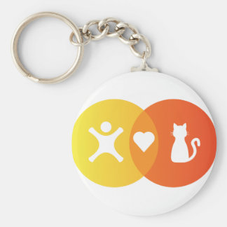 People Heart Cats Venn diagram Keychain