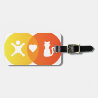 People Heart Cats Venn diagram Luggage Tag