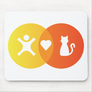 People Heart Cats Venn diagram Mouse Pad